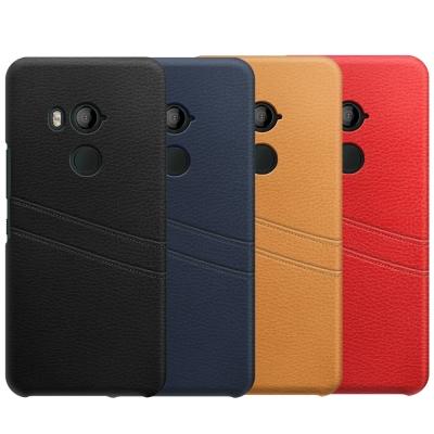 WINII HTC U11+ PU皮革雙卡夾保護背蓋