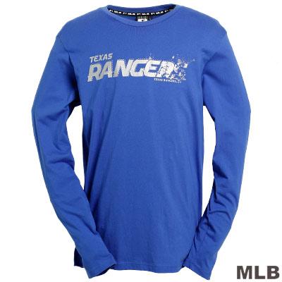 MLB-德州遊騎兵隊LOGO棉質T恤-藍(男)
