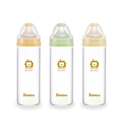 小獅王辛巴 超輕鑽寬口直圓玻璃大奶瓶3支組(260ml)