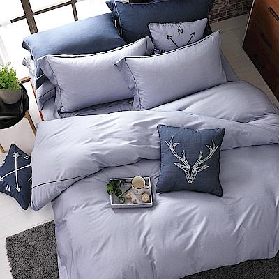 OLIVIA   霍華德 灰  加大雙人床包歐式枕套組  棉天絲系列