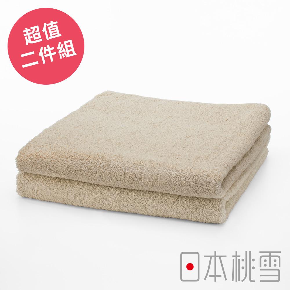 日本桃雪飯店毛巾超值兩件組(咖啡色)