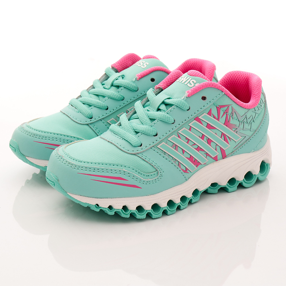 K-SWISS童鞋 彈力避震款 FI5041333 綠 (中小童段)T1
