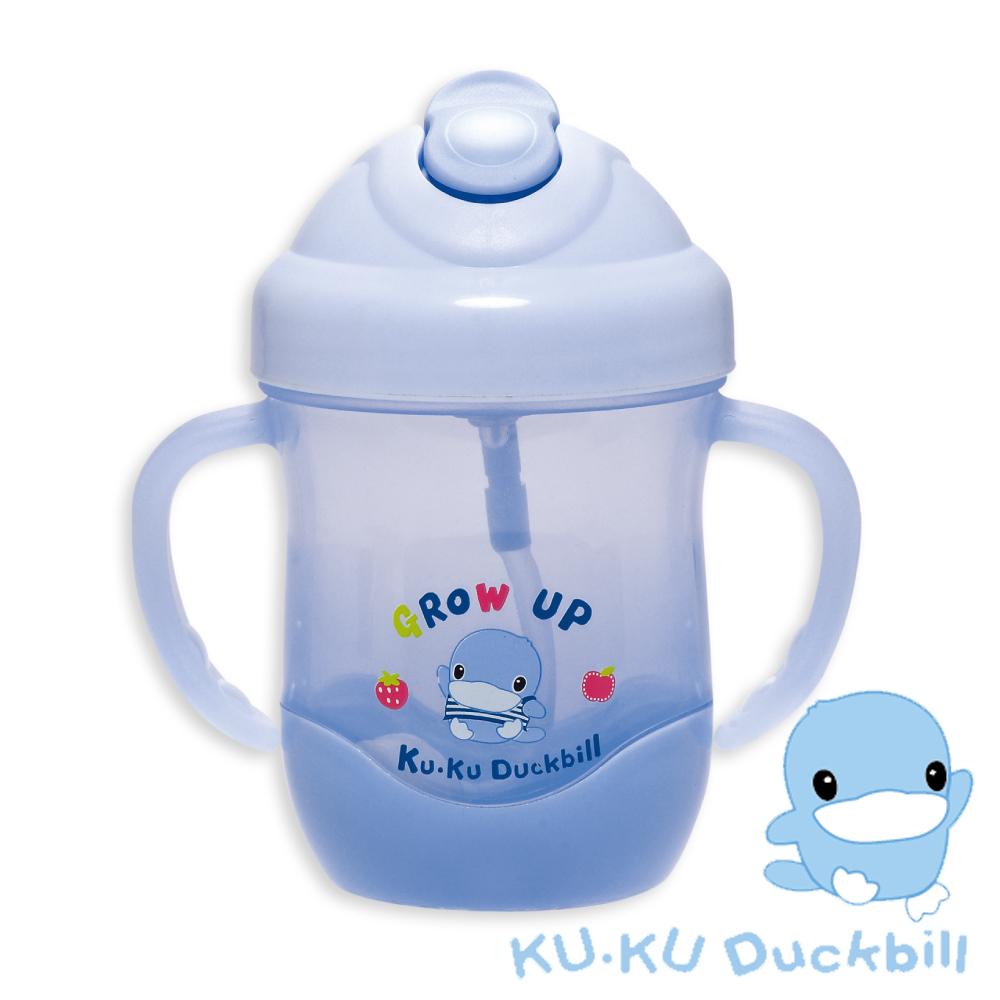任選-KU.KU酷咕鴨 酷樂喝水杯200ml(藍)