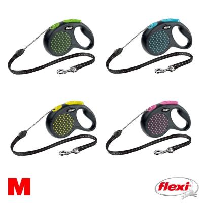 【飛萊希】 flexi 彩點系列 伸縮牽繩 索狀 M號