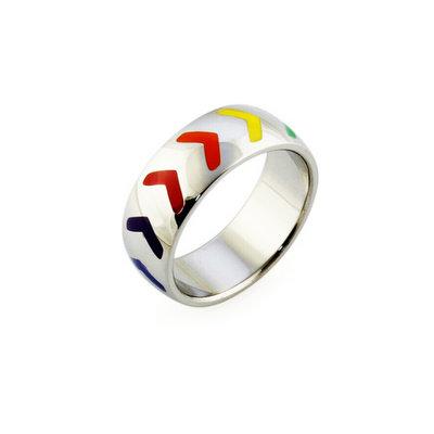 ACUBY PRIDE鋼製彩虹指引戒指