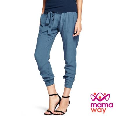 孕婦褲 老爺褲 孕期涼感楊柳縮口褲(共三色) Mamaway