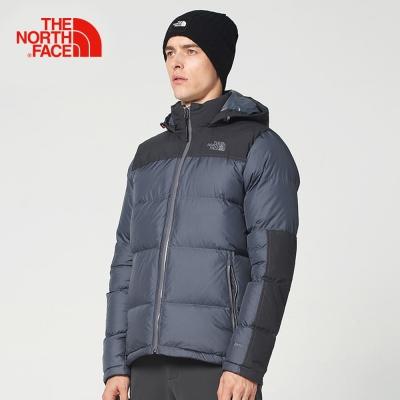 The North Face北面男款綠色防水保暖羽绒外套