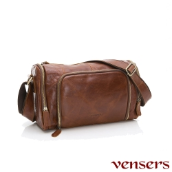 vensers小牛皮潮流個性包~斜肩背包(NE34901黃油皮)