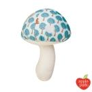 美國 Apple Park 有機棉 蘑菇搖鈴啃咬玩具 - 粉藍森林