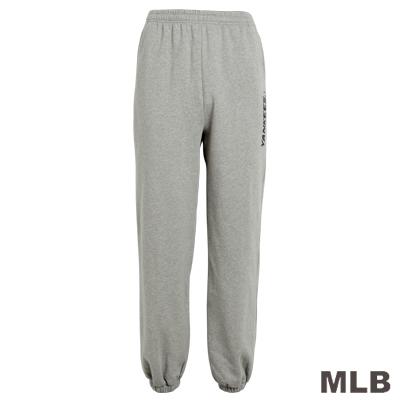 MLB-紐約洋基隊縮口印花厚長褲-麻灰(男)