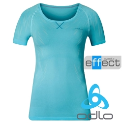 ODLO 女 effect 銀離子抗菌除臭排汗衣『極光藍/青藍』184041