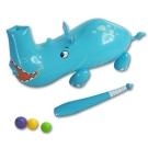 美國品牌【Bestway】47x16x20互動動物充氣擊球器-犀牛