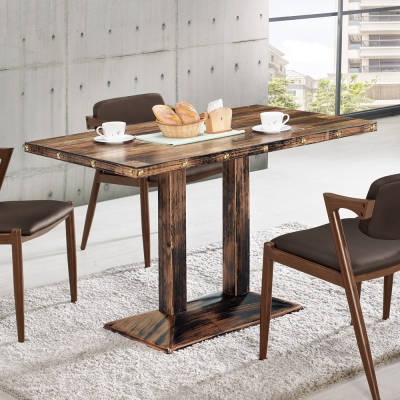 Boden-捷特4尺工業風造型餐桌-120x70x76cm