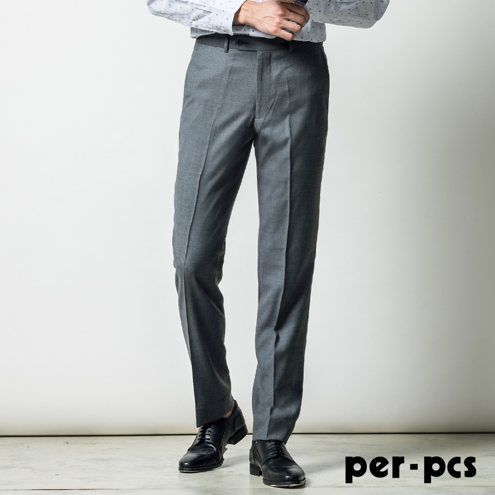 per-pcs 商務品味舒適平面西褲_灰色(817119)