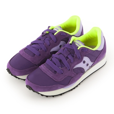 (女) 美國 SAUCONY 經典時尚休閒輕量慢跑球鞋-紫