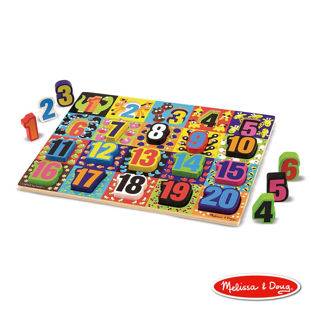 美國瑪莉莎 Melissa & Doug 厚塊拼圖 - 數字板