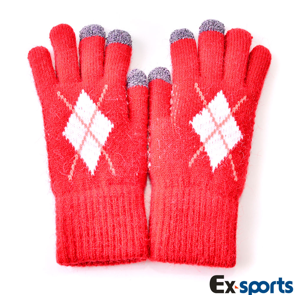 Ex-sports 觸控手套 智慧多功能(女款-紅色)