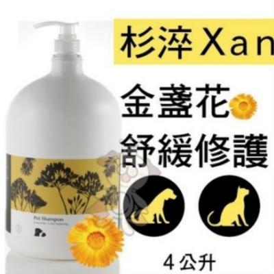 杉淬Xan-金盞花舒緩修護寵物洗毛精4L