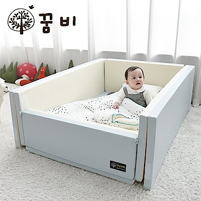 GGUMBI DreamB 韓國多功能圍欄地墊式嬰兒床-天空藍
