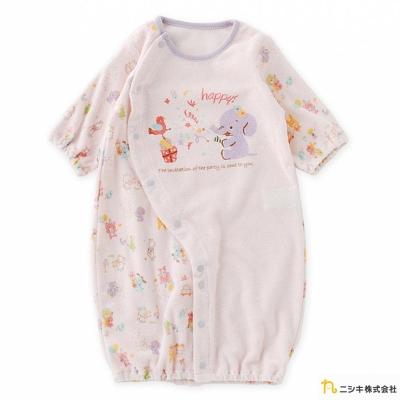 Nishiki 日本株式會社 兩穿式粉色動物長袖連身衣包屁衣