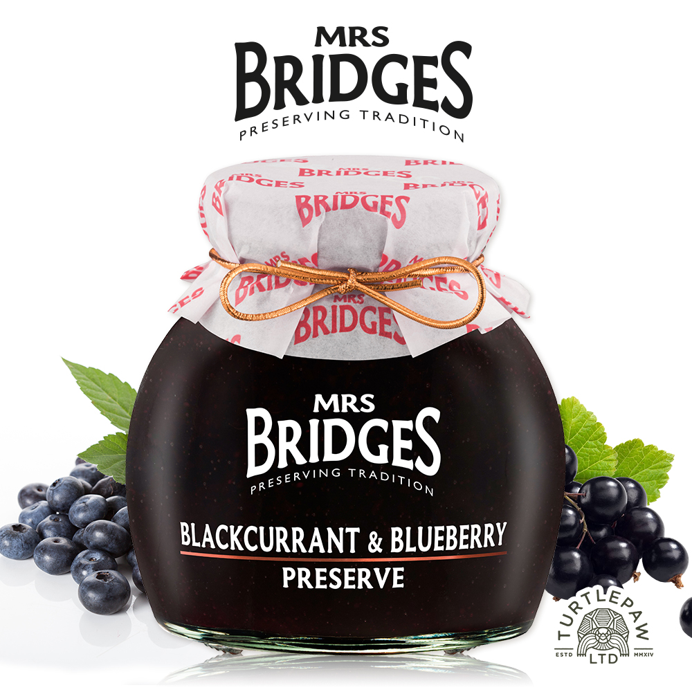 MRS. BRIDGES 英橋夫人黑加侖藍莓果醬(大)340g
