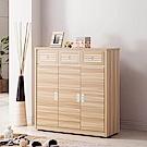 H&D 水芙蓉原木色4尺鞋櫃 (寬115.4X深39.7X高82.1cm)
