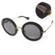 MIU MIU太陽眼鏡 復古風潮  Round圓框/歐美黑#MU13N 1AB1A1 product thumbnail 1