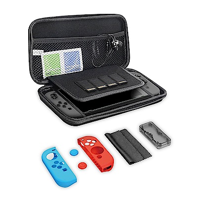 Gamewill任天堂Switch超值七合一配件組合包硬殼包保護貼保護套卡帶收納盒