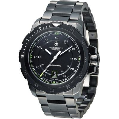 Victorinox ALPNACH 機械大三針腕錶-黑x綠/44m