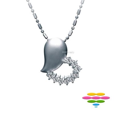 彩糖鑽工坊 18K 愛心鑽石項鍊 幸福之心系列