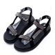 2.Maa - 閃耀迷人水鑽布料休閒涼鞋 - 黑 product thumbnail 1