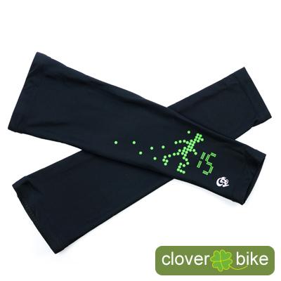 【CLOVER】獨家設計-交通小綠人自行車專用袖套(M)