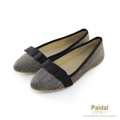 Paidal 優雅OL款小結尖頭包鞋尖頭鞋-黑灰