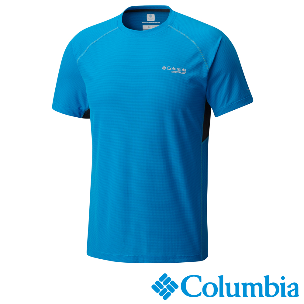 Columbia 哥倫比亞 男款-野涼感快排短袖上衣-藍色 (UAE13070BL)