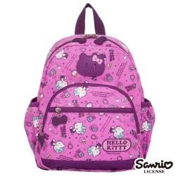 Hello Kitty 休閒潮流Ⅱ小後背包-粉紫KT88B01PL