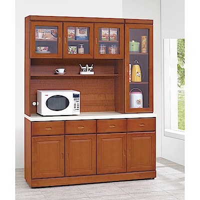 H&D 樟木色5.3尺碗櫃組 (寬160.2X深434X高206.2cm)