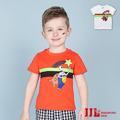 JJLKIDS 塗鴉超人印花純棉短袖T恤(2色)