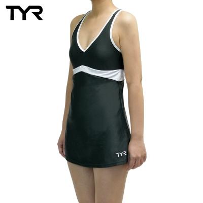 美國TYR女用修身連身裙泳裝Celsia Swim Dress Gray
