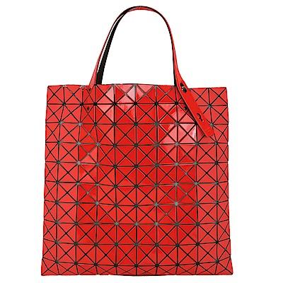 ISSEY MIYAKE三宅一生BAOBAO幾何10x10亮霧面雙質感拼色手提包(紅)