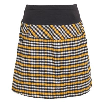 ohoh-mini孕婦裝-經典格紋彈性包覆孕婦短裙