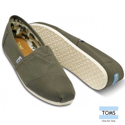 TOMS 經典帆布懶人鞋-男款(橄欖綠)