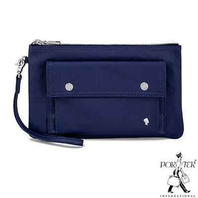 PORTER - 輕甜繽紛SPIRIT時尚手拿包 - 海軍藍(銀)