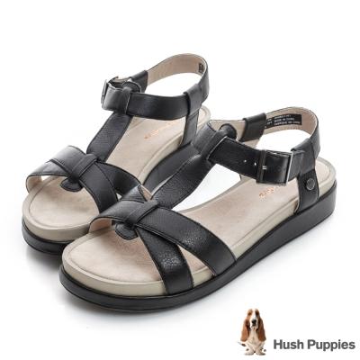 Hush Puppies GERRIT 超彈力T字涼鞋-黑色
