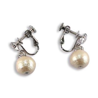 CARUTINA 施華洛世奇水晶棉珍珠耳環(夾式/針式)