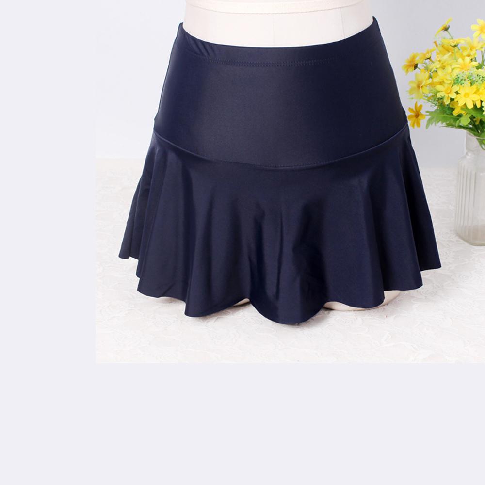 Biki比基尼妮,泳裙女生單泳裙遮肚內四角褲短裙(單褲裙)