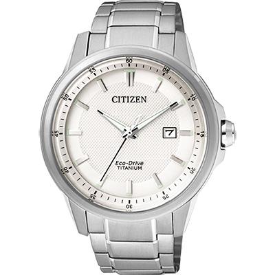 CITIZEN Eco-Drive超級鈦時尚腕錶(AW1490-84A)-銀/42mm