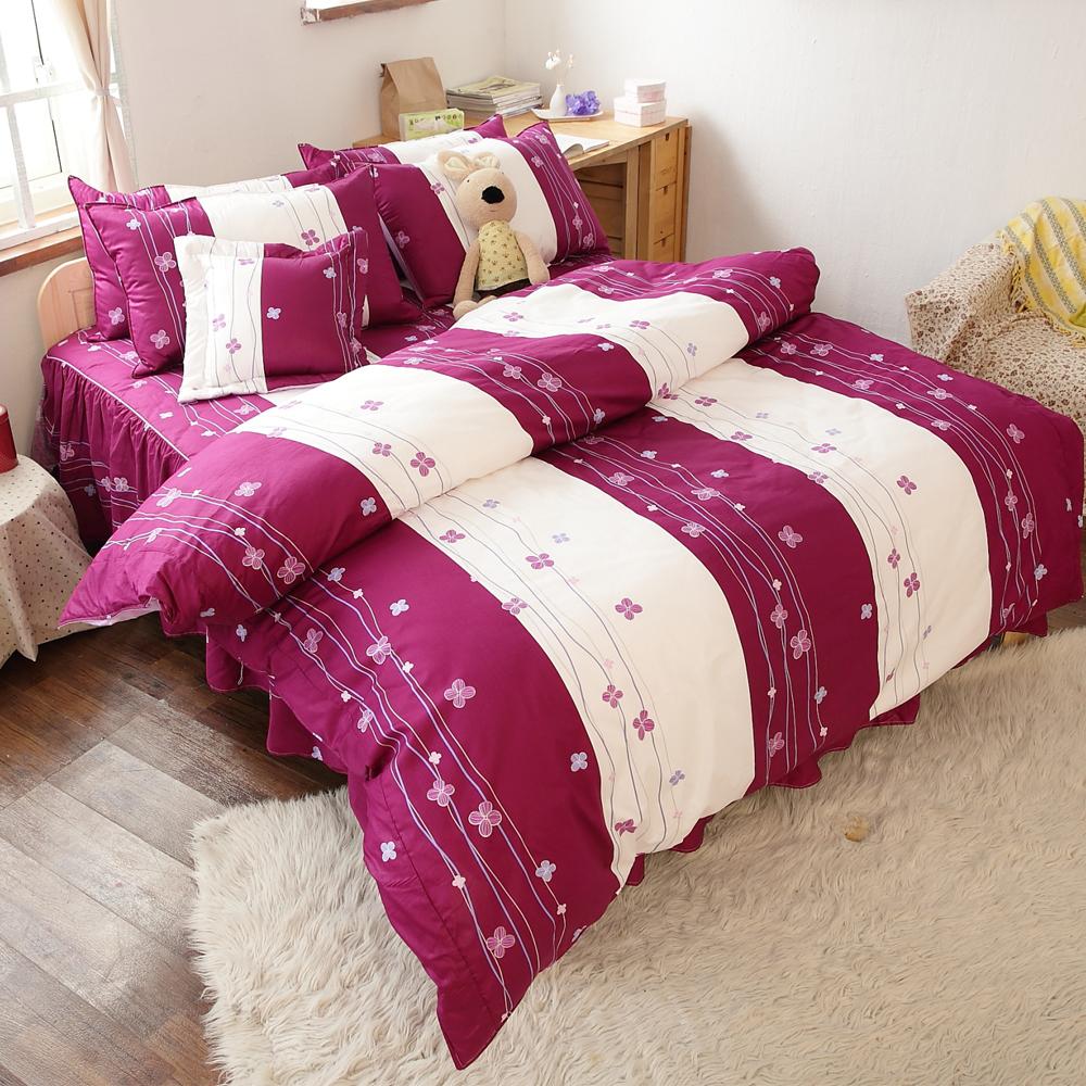 【FOCA-幸福星空】MIT六件式精梳純棉兩用被床罩組-加大