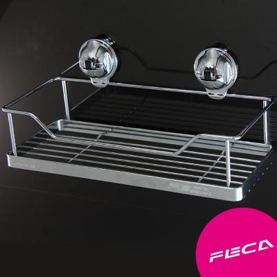 FECA非卡 無痕強力吸盤 鍍鉻不鏽鋼置物架組(小)