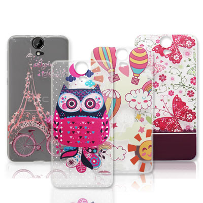 VXTRA HTC One E9 / E9+ 法式浪漫 彩繪軟式保護殼 手機殼