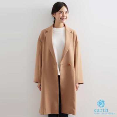 earth-music-日本型錄款-素色V領斜面大口袋切斯特外套